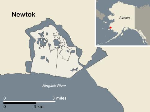 newtok, alaska map