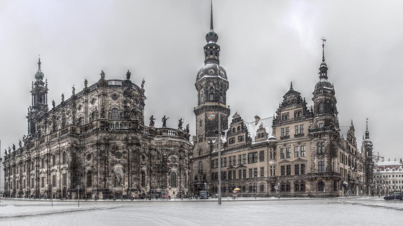 Dresdner Hofkirche, the Residenzschloss and the Zwinger