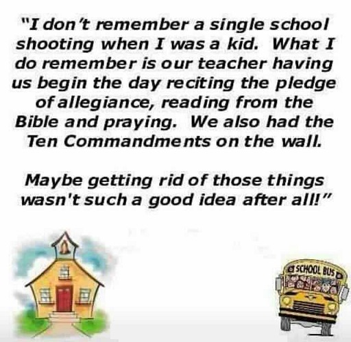 On School Shootings And School Prayer